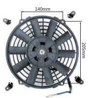 "12"" Black Automotive Electric Cooling Fans Straight Blade 1 Year Warranty"