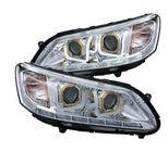 ABS Brightest LED Car Headlights For 13 - 14 Honda Accord 4dr Sedan